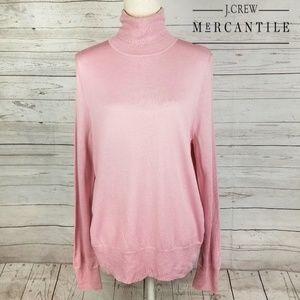 J.Crew Merchantile Blush Pink Turtleneck